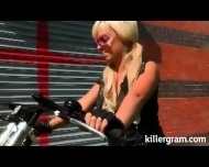 Sex With Naughty Biker In Stocking...